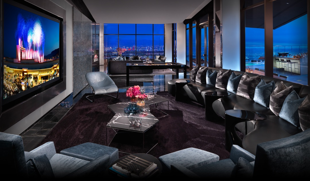 Las Vegas Penthouse Suites - The One-Eighty Suite - Red