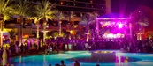 Live music at Sandbar, a poolside bar & grill inside Red Rock Casino Resort & Hotel