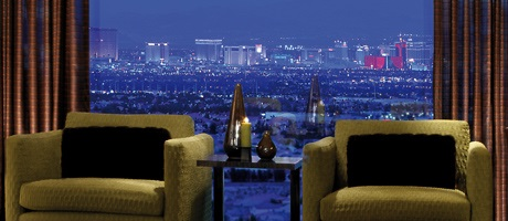 King suite with view of Las Vegas Strip