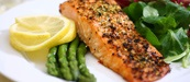 Seared Salmon with Aspargus and Greens