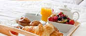 Room Service Breakfast Croissants and Fruit