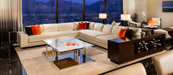 Seating area in a luxury suite at Red Rock Resort in Las Vegas