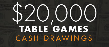 Table Games Cash Drawings