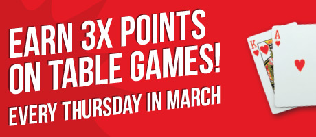 3x Points on Table Games