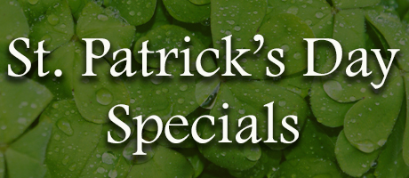 St. Patrick's Day Menu Specials