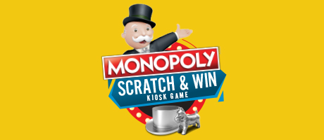 Monopoly Scratch and Win Kiosk Game