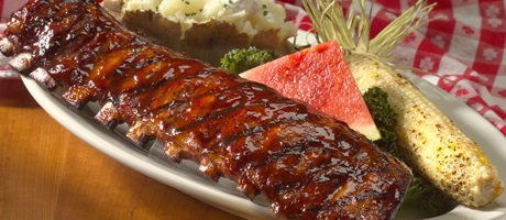 Rack of ribs from Lucille's BBQ