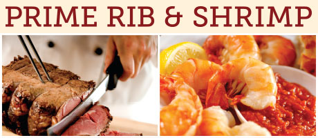 Prime Rib and Shrimp at Feast Buffet
